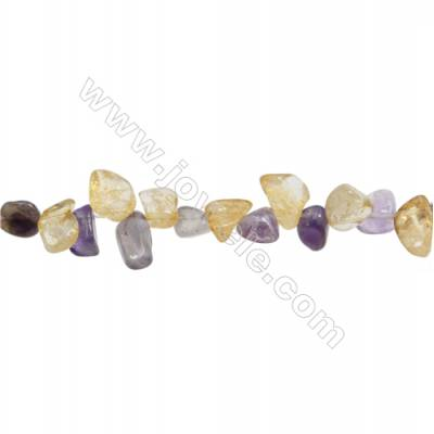 "Natural Mixture Crystal Chip  Irregular  Size 4~6x9~22mm  hole 1mm 15~16"" x 1strand"
