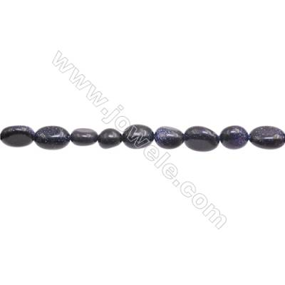 "Natural Blue Sand Stone Beads Strand  Irregular  Size 7~8x6~10mm   hole 1mm  15~16"" x 1strand"