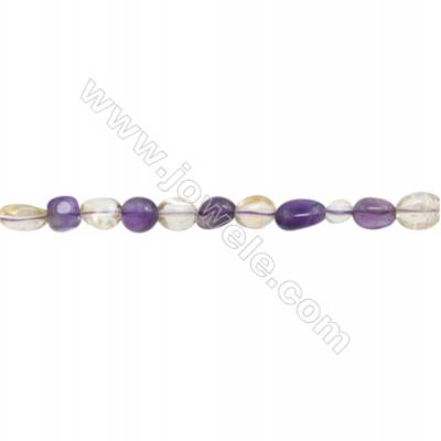 "Natural Mixture Crystal Beads Strand  Irregular  Size 5~7x6~10mm  hole 1mm 15~16"" x 1strand"