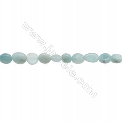 "Amazonite Beads Strand  5~8mm x 6~9mm  hole 1mm  15~16"" x 1 piece"