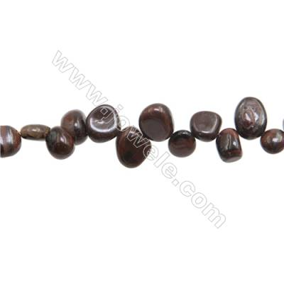 "Red Tiger Eye Chips Strands  Size 4~10x9~15mm  Hole: 1mm  15~16"" x 1Strand"