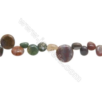 "Natural Indian Agate Beads Strand  Irregular   Size 8~15mm   hole 1mm   15~16"" x 1Strand"