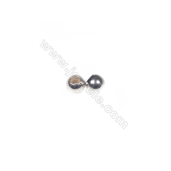 925 Sterling silver beads, 2.5 mm, x 200pcs, hole 0.8 mm