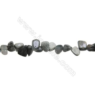 """Natural Hawks Eye Chips Strands  Size 8~8x9~11mm  Hole: 1mm  15~16"""" x 1Strand"""