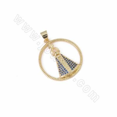 CZ Brass Pendants, Cubic...