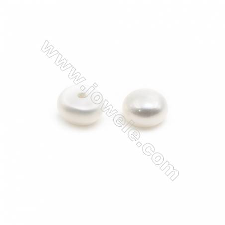 Fresh Water AAA Grade Half-Drilled Pearl Beads  Flat Back   Diameter 5.5mm  Thick 5mm  Hole 0.8mm  160beads/pack