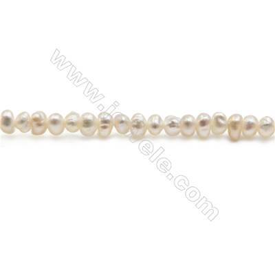 "Natural Fresh Water Pearl Beads Strand, Oval, about 3~3mm, Hole 0.8mm, 15~16"" x 1strand"