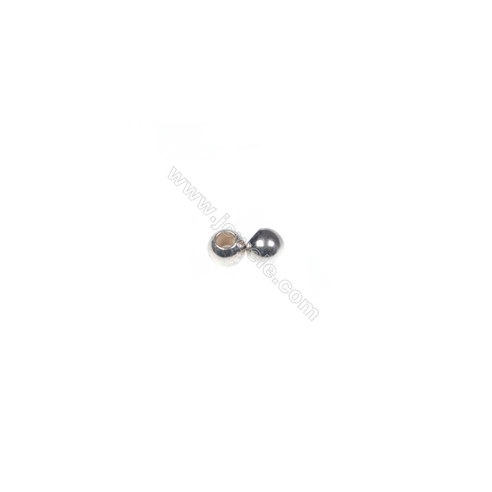 925 sterling silver beads, 2.5 mm, x 200pcs, hole 1 mm