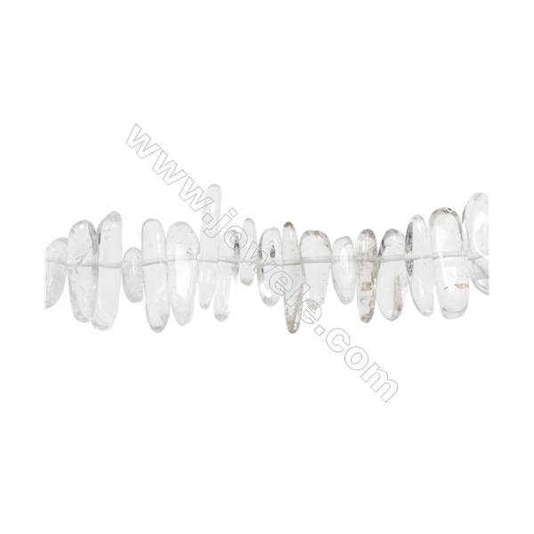 """Natural Rock Crystal Beads Strand  4~6mm x 10~24mm  hole 1mm  15~16"""" x 1strand"""