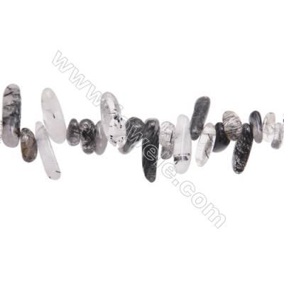 "Rutilated Quartz Beads Strand, Irregular, Size 4~7mm x10~22mm, Hole 1mm, 15~16""/1strand"