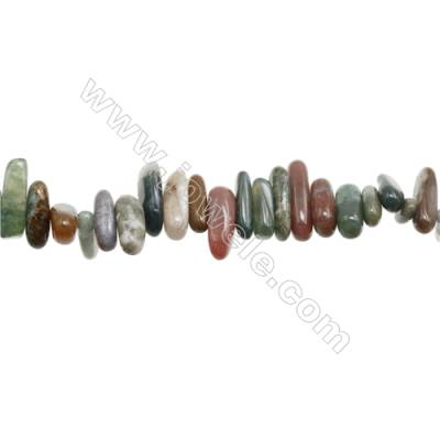 "Natural Indian Agate Chips   Size 3~6x12~25mm   hole 1mm   15~16"" x 1Strand"