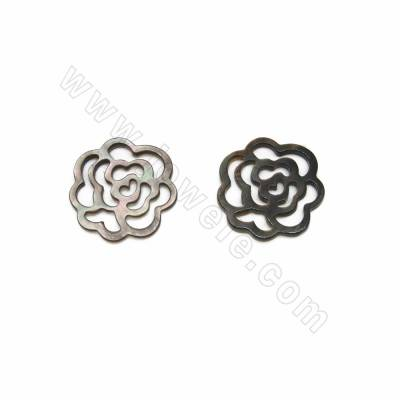 Openwork flower shell gray...