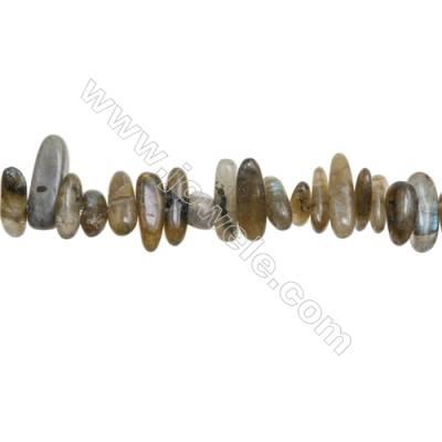 "Natural Labradorite Beads Strand  Irregular Rectangle  4~6mm x 10~22mm  hole 1mm  15~16"" x 1strand"