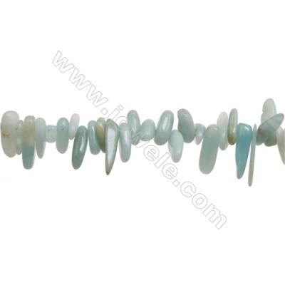"Natural Amazonite Beads Strand  Irregular Rectangle  4~6mm x 10~26mm  hole 1mm  15~16"" x 1 piece"