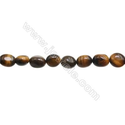 "Tiger Eye Beads Strand  Irregular  Size 8~9x9~11mm   hole 1mm 15~16"" x 1piece"