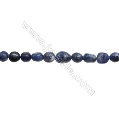 "Natural Gemstone Sodalite Beads Strand  Irregular  Size 7~9x8~9mm   hole 1mm  15~16"" x 1strand"