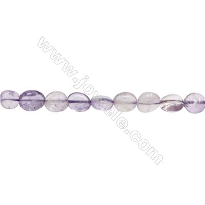"Natural Amethyst Beads Strand  Irregular  Size 8~10mm x 9~11mm  hole 1mm  15~16"" x 1strand"