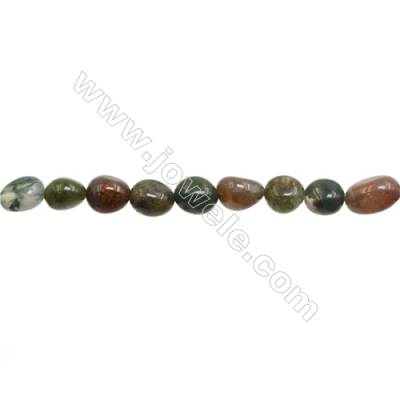 "Natural Indian Agate Beads Strand  Irregular   Size 7~8x8~10mm   hole 1mm   15~16"" x 1Strand"