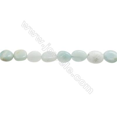 "Natural Amazonite Beads Strand  Irregular  Size 8~9x9~10mm  hole 1mm  15~16"" x 1strand"