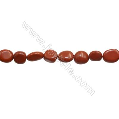 "Red Jasper Beads Strand  Irregular  8~9mm x 9~12mm, hole 1mm 15~16"" x 1strand"