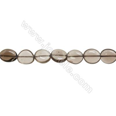 "Natural Smoky Quartz Beads Strand  Irregular  Size 9~10x10~13mm  hole 1mm  15~16"" x 1strand"