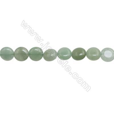 "Natural Green Aventurine Beads Strand  Irregular  Size: 10~11mm  hole 1mm   15~16"" x 1piece"