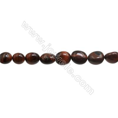 "Red Tiger Eye Beads Strands  Irregular  Size 8~10x9~12mm  Hole: 1mm  15~16"" x 1Strand"
