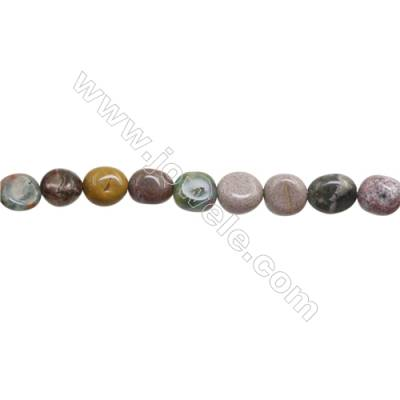 "Natural Indian Agate Beads Strand  Irregular   Size 9~10mm   hole 1mm   15~16"" x 1Strand"