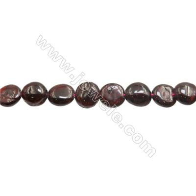 "Natural Garnet Beads Strand  Irregular  Size 9~10x10~11mm  Hole: 1mm  15~16"" x 1strand"