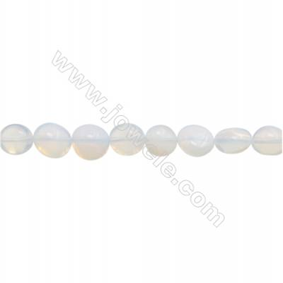 "Synthetic Gemstone Opal Beads Strand  Irregular  Size 8~10x9~11mm  hole 1mm  15~16"" x 1 strand"