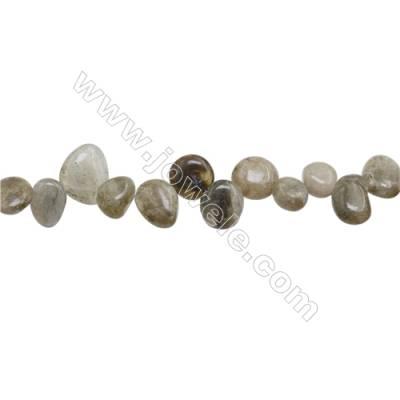 "Natural Labradorite Beads Strand  Irregular Oval  Size 8~12 x 9~14mm  hole 1mm  15~16"" x 1strand"