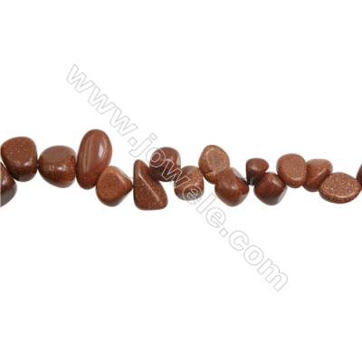 """Natural Goldstone Beads Strand  Chips  Size 7~10x8~16mm  hole 1mm  15~16"""" x 1strand"""