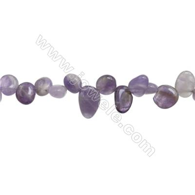 "Natural Amethyst Beads Strand  Irregular Oval  Size 7~10mm x8~13mm  hole 1mm  15~16"" x 1strand"