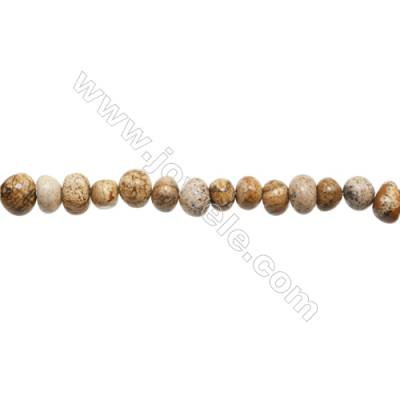 "Natural Picture Jasper Beads Strand  Irregular  Size 7~9x9~11mm  hole 1mm  15~16"" x 1strand"