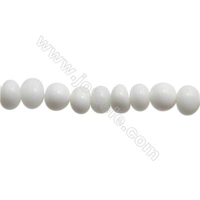 "Natural White Agate Beads Strand  Irregular  Size 6~9x8~9mm   hole 1mm  15~16"" x 1strand"