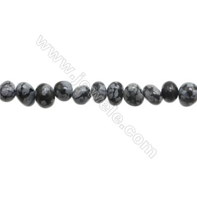 "Natural Snowflake Obsidian Beads Strand  Chips  Size 6~8x7~11mm   hole 1mm  15~16"" x 1strand"