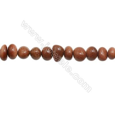 """Natural Goldstone Beads Strand  Chips  Size 5~9x9~11mm  hole 1mm  15~16"""" x 1strand"""