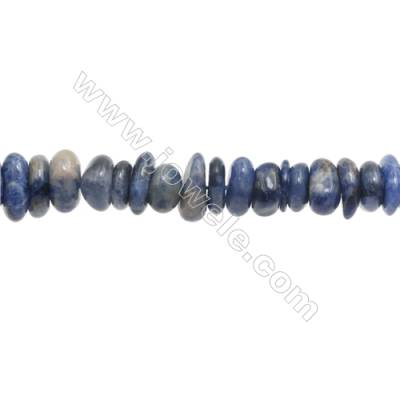 """Natural Gemstone Sodalite Chips  Size 8~9x9~11mm   hole 1mm  15~16"""" x 1strand"""