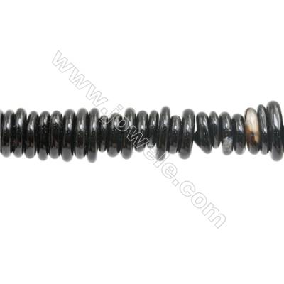 """Natural Black Agate Beads Strand  Irregular  About 3~4 x10~14mm  hole 1mm 15~16"""" x 1strand"""