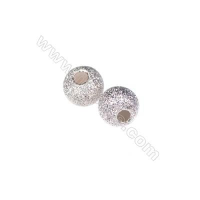 925 sterling silver frosted beads, 5mm, x 60pcs, hole 1.8mm