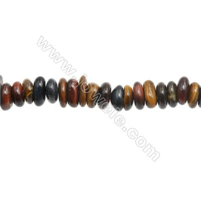 "Tiger Eye Beads Strand  Irregular  Size 2~3x9~15mm   hole 1mm 15~16"" x 1piece"