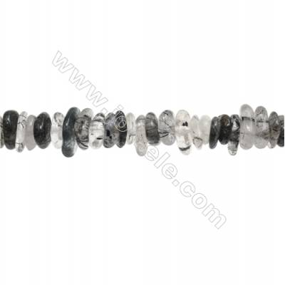 "Natural Rutilated Quartz Beads Strand  Chips  Size 4~5x9~14mm  hole 1mm  15~16"" x 1strand"