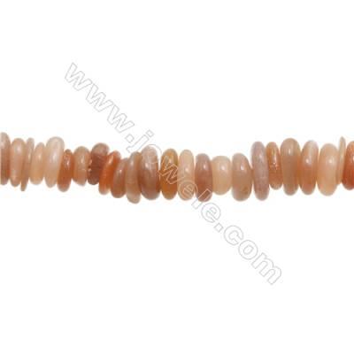 "Natural Orange Moonstone Chips  Size 1~4x9~14mm   hole 1mm  15~16"" x 1strand"