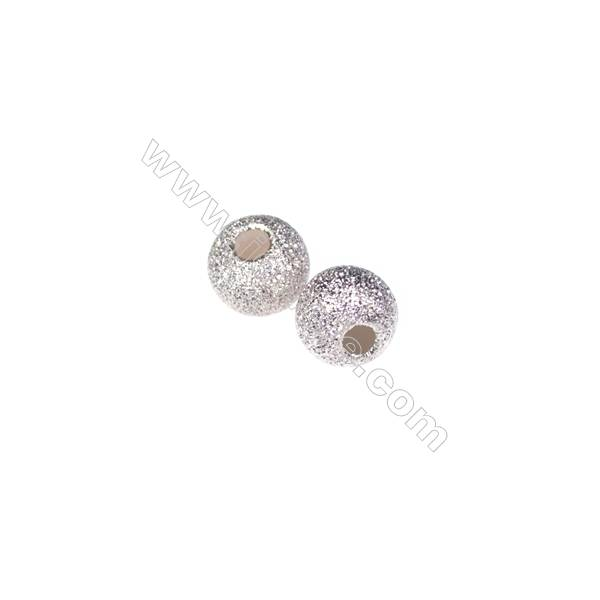 925 sterling silver frosted beads, 5mm, x 60pcs, hole 2mm