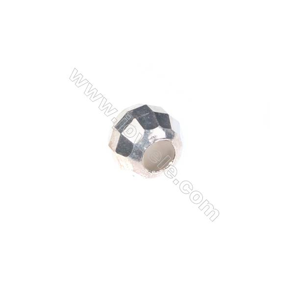 925 sterling silver facested beads, 8mm, x 30pcs, hole 3mm