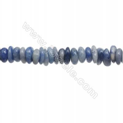 "Natural Tanzanite Chips Strand  Size 3~4x10~14mm  hole 1mm  15~16"" x 1 Strand"