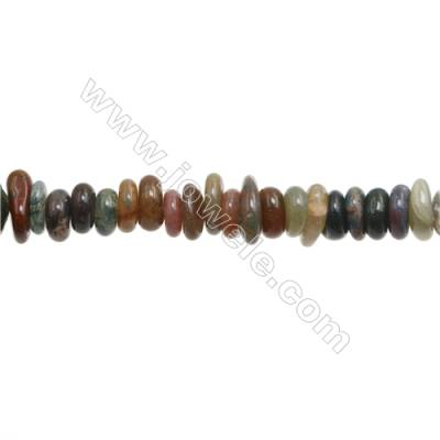 "Natural Indian Agate Chips   Size 2~4x8~14mm   hole 1mm   15~16"" x 1Strand"