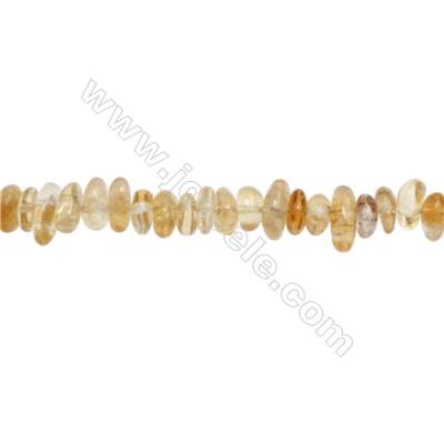 """Natural Citrine Chips Strand  Size 3~4x9~14mm  hole 1mm  15~16"""" x 1 Strand"""
