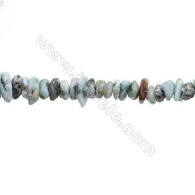 """Natural Larimar Chips Strand  Size 3~5x11~14mm   hole 1mm  15~16"""" x 1strand"""