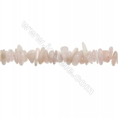 """Red Morganite Chips Strand  Size 3~4x9~16mm  hole 1mm  15~16"""" x 1 Strand"""